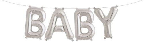 BABY Foil Balloons Shower Party Decorations GOLD SILVER LARGE SMALL