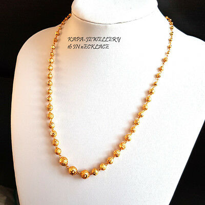22k Indian Gold Plated Necklace Choker Chain Necklace Sets Fashion Jewelry King Ebay
