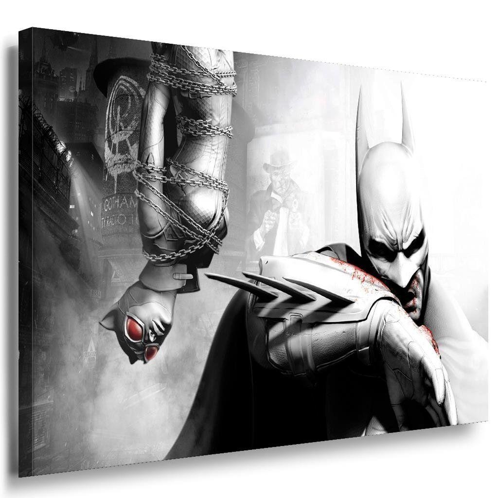 Batman & Catwoman Abstrakt Leinwandbild   AK ARTBilder   Leinwand Bild + Me...
