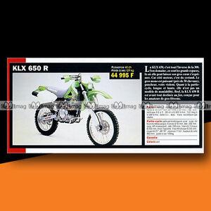 KAWASAKI KLX 650 R 2000 Article Fiche Présentation Moto #c1255 - France - État : Occasion: Objet ayant été utilisé. Consulter la description du vendeur pour avoir plus de détails sur les éventuelles imperfections. ... - France