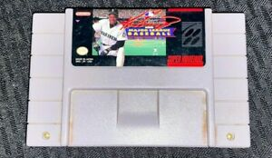 Super-Nintendo-SNES-Ken-Griffey-JR-Baseball-Game-Cartridge-Tested-and-Works
