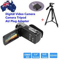 Full Hd 1080p Digital Video Camera 3 Lcd 16x Zoom Camcorder Dv 24mp Dvr +tripod