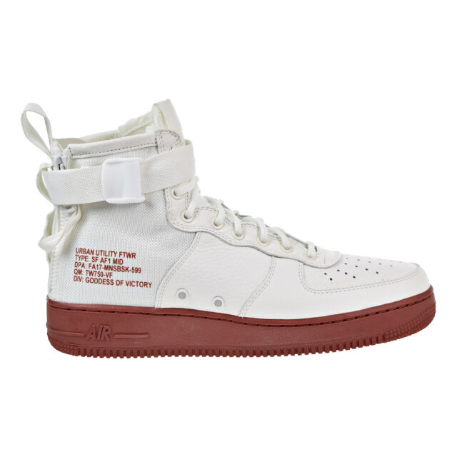 10837797b7f8 Nike SF Af1 Mid Special Field Air Force 1 Ivory Mars Stone Zip Men ...