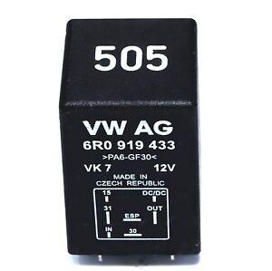 GENUINE-505-RELAY-FUSE-VOLTAGE-STABILISER-6R0919433-AUDI-A1-8X-VW-POLO-CAXA
