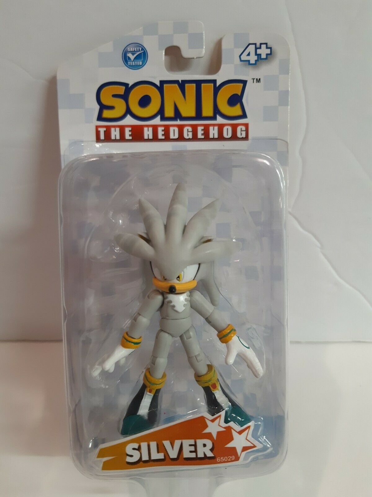 Authentic  Jazwares - Sonic The Hedgehog - 3  Silver Figure