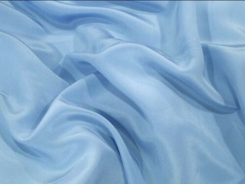 Duchess Satin Dress Fabric Superior Heavy Weight Quality Pale Blue £8.99// Metre