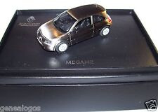 NOREV RENAULT MEGANE II COUPE TRAITEMENT METAL BROSSE CHROME 1/43 IN BOX