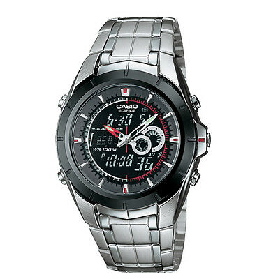 Casio EFA119BK-1AV, Edifice Watch, Analog/Digital, Thermometer, Day/Date, Alarm