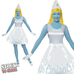 1980s Ladies SMURFETTE Fancy Dress Costume Licenced 80 s SEXY SMURFS ... 62285a781301