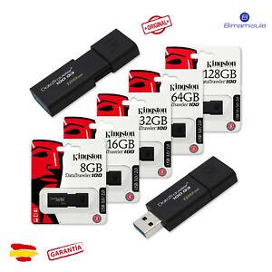 Pendrive-memoria-USB-3-0-Kingston-DT100-G3-16-32-64-128GB-Unidad-Flash-Drive