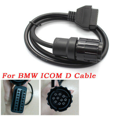 60/'/' Motorcycle 10 Pin Adaptor OBD2 II Diagnostic Cable For BMW ICOM D Practical