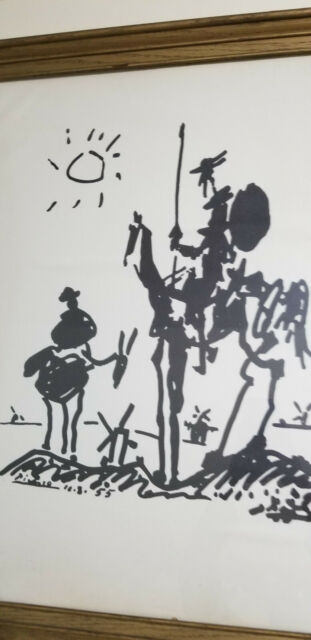 """Pablo Picasso /""""don Quixote/"""" print art paper framed reproduction 6.8X8.8 poster"""
