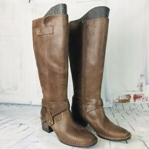 UGG BANDARA Womens Brown Leather Tall Knee High Riding Boots Size US 5.5 ~ NWOB