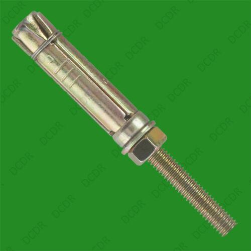 5x Schwerlast Stahl M10 X 90mm Projektierung Anker Lose Schraube /& Shield Fixing
