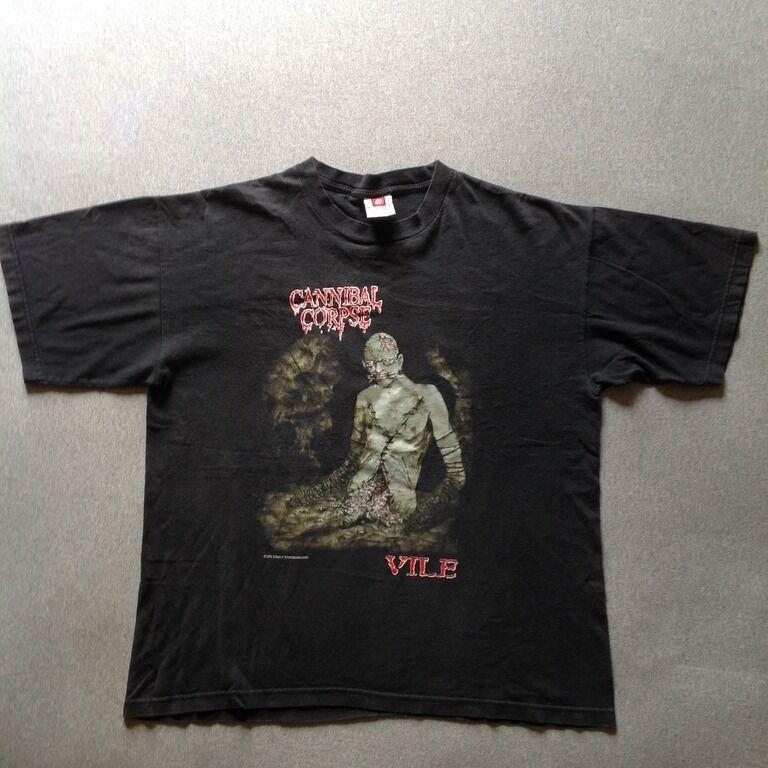 Cannibal Corpse Vintage T-Shirt Monolith des Todes '96 Tour XL Bolt Thrower Vile