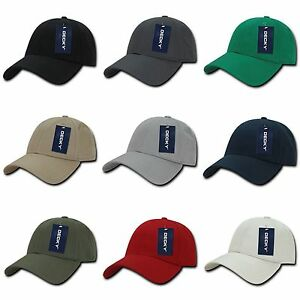 5d796c00 Details about Plain Solid Blank Low Crown Adjustable 6 Panel Cotton  Baseball Golf Ball Hat Cap
