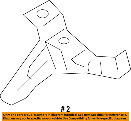 Lincoln FORD OEM 10-12 MKZ-Fender Front Bracket Right 9H6Z16A023A