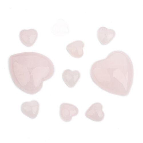16 Styles Natural Gemstone 16mm//25mm Heart Flat Back Cabochon Beads 5Pcs//Lot