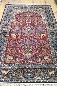 Persian-Isfahann-Esfahann-silk-and-wool-handmade-hand-knotted-rug-240-x-160-cm