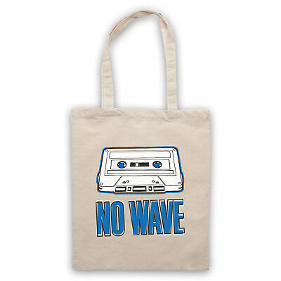 NO WAVE UNDERGROUND ART SCENE RETRO SLOGAN CONTEMPORARY SHOULDER TOTE SHOP BAG