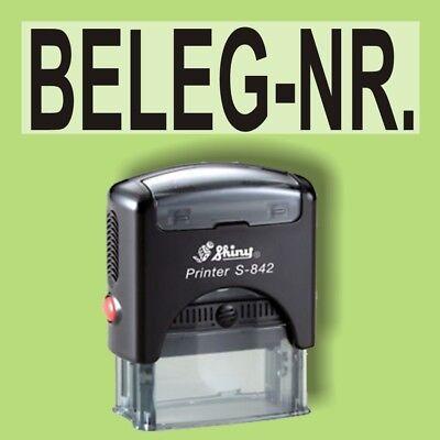 Geschickt Beleg-nr - Shiny Printer Schwarz S-842 Büro Stempel Kissen Schwarz Jahre Lang StöRungsfreien Service GewäHrleisten