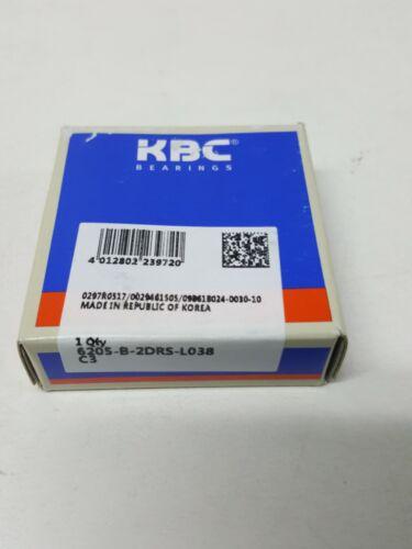 NEW KBC 6205DD BEARING SEALED 6205DD 25x52x15 mm