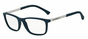 Logisch Emporio Armani 3069 55 5474 Blau Rubber Occhiale Ansicht Eyewear Blau Gummiert Augenoptik Brillenfassungen