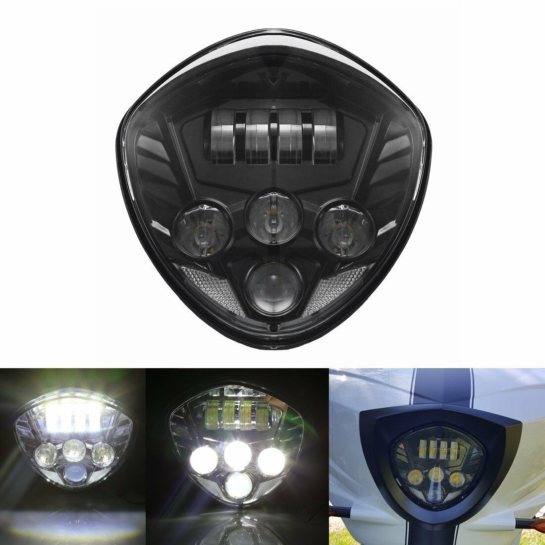 Brightest 60w Cree Black Led Headlight High Low Beam Bulb