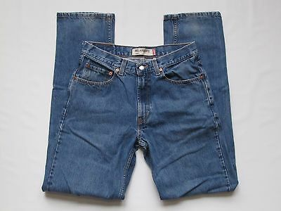 Levis Men's 550 Relaxed Fit Straight Medium Blue Jeans 32x36 Meas 33 x 35.25