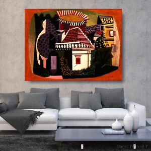 Pablo Picasso Oil Painting Landscape Of Juan Les Hand-Painted Art Canvas 36x48in