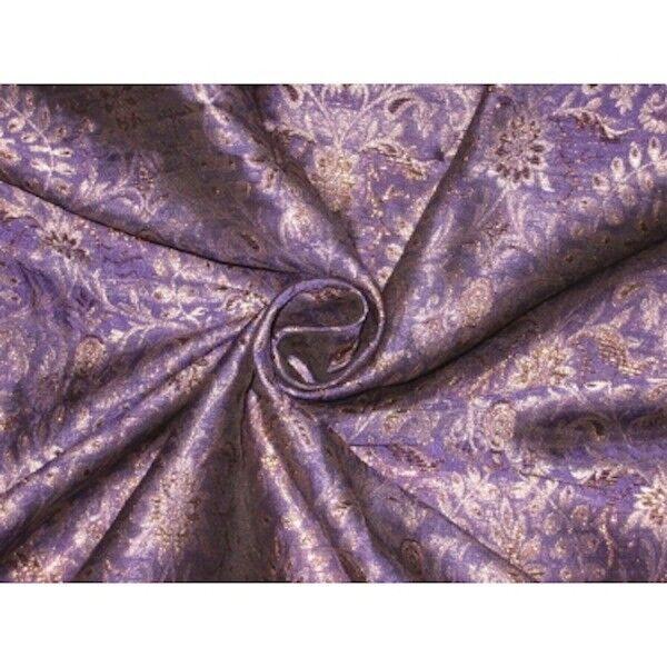 "BROCADE FABRIC Purple & Metallic Gold 44"" / BRO116[1]"
