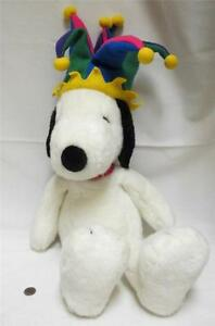Peanut S Snoopy Plush Stuffed Animal Jester S Hat Macy S Exclusive