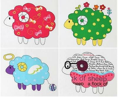 SHEEP LAMBS QUILTING CRAFTS HOME DECO FABRIC 100/%COTTON PANEL