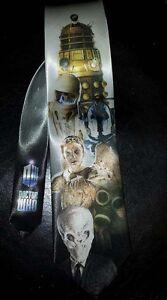 L@@K! Dr Who Monsters Neck Tie - Dalek, Cyberman, Weeping Angel, Silence + more