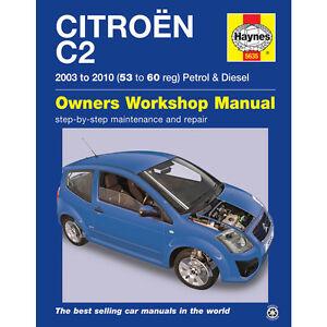 citroen c2 haynes manual 2003 10 1 1 1 4 1 6 petrol turbo diesel ebay rh ebay co uk Citroen C5 Citroen DS3