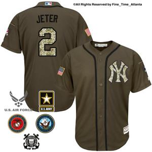 f4ede8005 NEW HTF Derek Jeter New York Yankees Mens Salute to Service Military ...