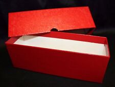 Coin Slab Storage Box RED Holds 2½ x 2½ Crown Paper Holder Flips & Slabs 2.5x2.5