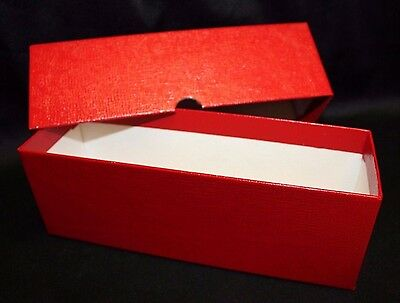 4 Coin Storage Boxes RED Holds 2½ x 2½ Crown Coin Holder Flip Snap /& Slab Case