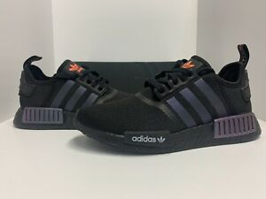 Adidas NMD R1 Boost Mens Running Shoes Core Black/Solar Orange ...