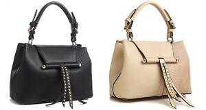Image Is Loading Bessie London Tote Handbags In Black Or Khaki