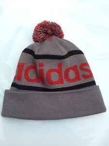 3837b8f6148 NEW Adidas Originals Mercer Ballie Pom Beanie Winter Hat Gray Maroon ...