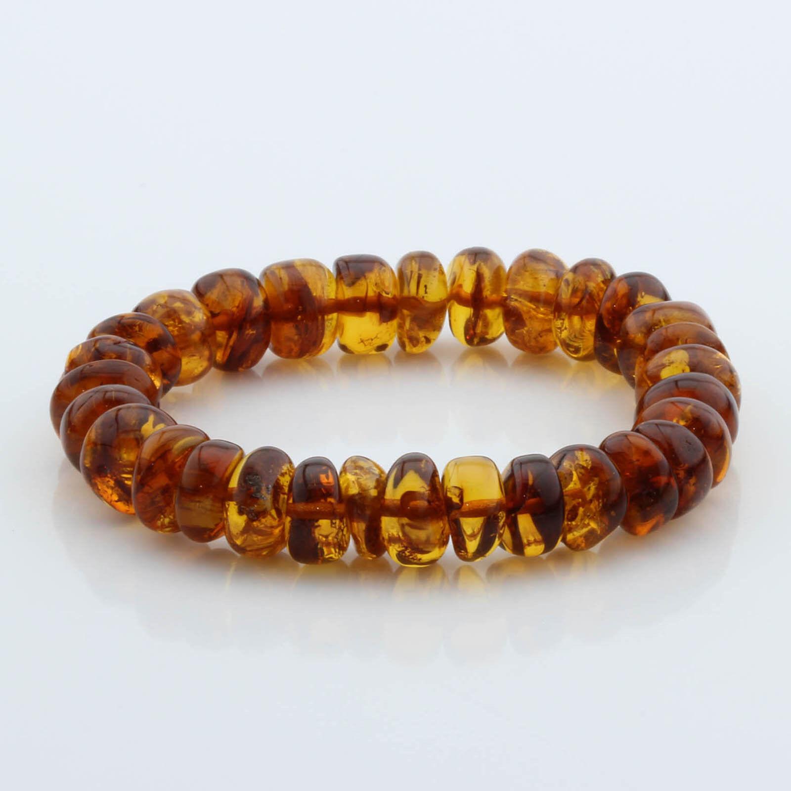 Bracciale Bracciale Bracciale ambra naturale baltica perline tablet di grandi dimensioni 10 mm 13 G. MRC208 6b8836