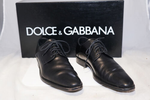 5 Italia cuir Eu en pour 38 noir Uk Chaussures DolceGabbana 5 hommes 5 kZuXiPO