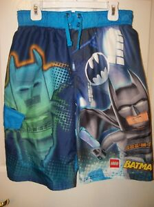 5e217464c7 Lego Batman & Robin Blue Red Swim Suit Trunks Shorts Boys Size 10 ...