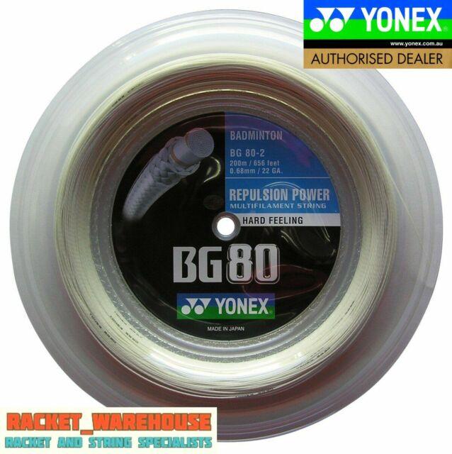 Genuine Yonex BG66 Ultimax Metallic White 656ft 200m Reel Badminton String