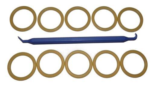 Lot de 10-3//4 Pouces NPS K-Soupape//DIN Valve cou polyuréthane 214 O-Ring /& Pick