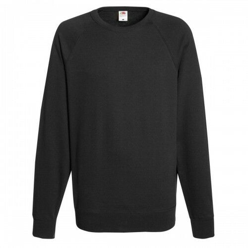 Adulte Pull S M L XL 2XL Fruit Of The Loom Hommes Léger Raglan Pull