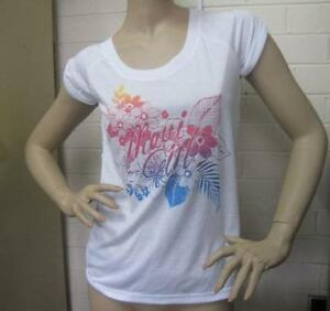 New-Ladies-Maui-Girl-Summer-T-Shirt-Top-Size-10
