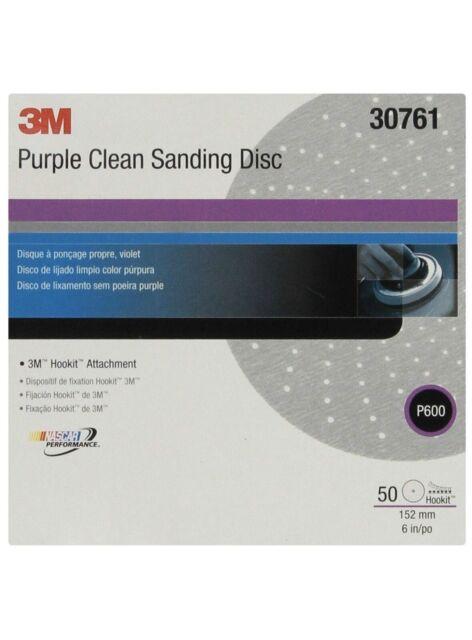 3M 01810 Hookit Purple 6 P500C Grit 334U Clean Sanding Disc
