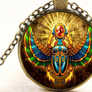 New egyptian scarab beetle pendant necklace jewellery symbol of image is loading new egyptian scarab beetle pendant necklace jewellery symbol aloadofball Choice Image